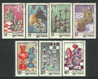 Guinea - Bissau 1983 Chess complete perf set of 7 cto used SG 751-57*