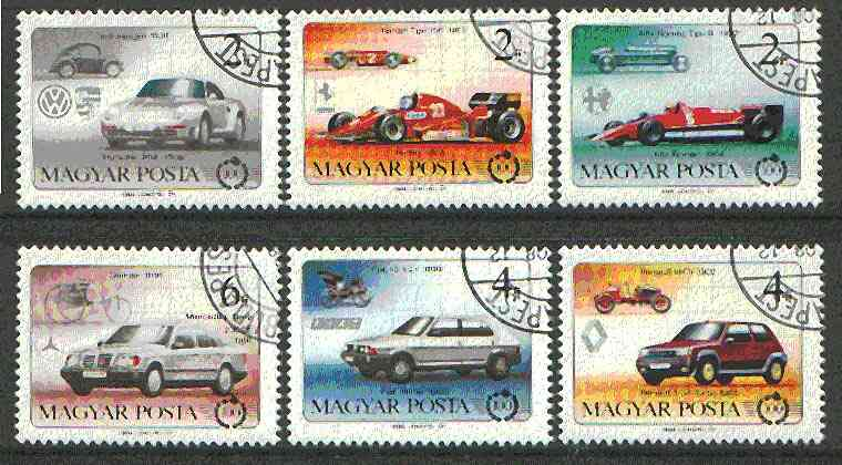 Hungary 1986 Centenary of the Motor Car set of 6 cto used, SG 3701-06*