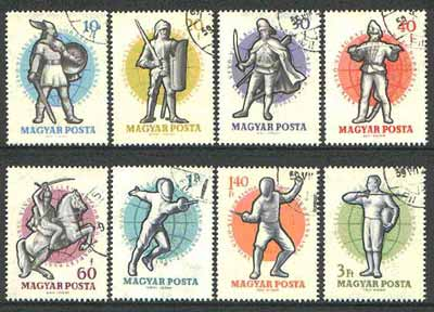Hungary 1959 Fencing set of 8 cto used, SG 1582-89*