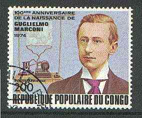 Congo 1974 Birth Centenary of Marconi very fine used, SG 416*