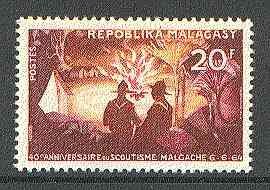 Malagasy Republic 1964 40th Scout Anniversary unmounted mint, SG 81