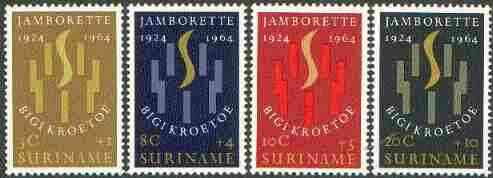 Surinam 1964 Scout Jamborette set of 4 unmounted mint, SG 534-37