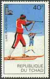 Chad 1980 Lake Placid Olympic Games 40f (biathlon) unmounted mint, SG 584
