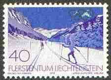 Liechtenstein 1980 Lake Placid Olympic Games 40r (Ski Slope) unmounted mint, SG 732