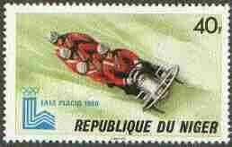 Niger Republic 1980 Lake Placid Olympic Games 40f (Bob Sleigh) unmounted mint SG 787*