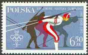 Poland 1980 Lake Placid Olympic Games 6z60 (Skiing) unmounted mint, SG 2662