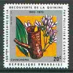 Rwanda 1970 Cinchona Bark (Quinine) 20c unmounted mint SG 377*