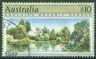 Australia 1990 Botanical Gardens $10 superb cds used, SG 1201