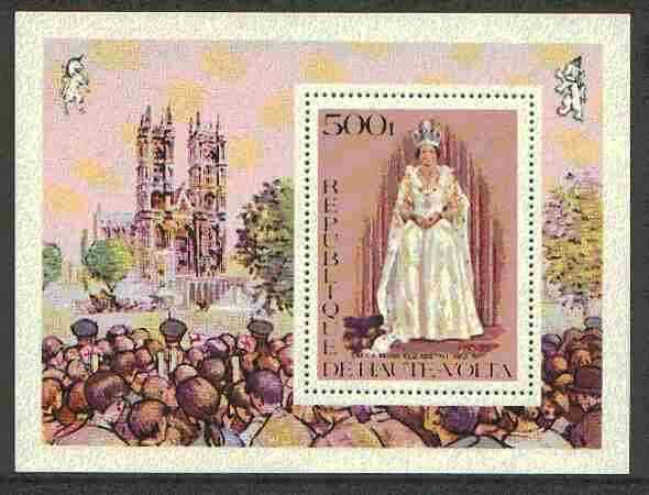 Upper Volta 1977 Silver Jubilee 500f perf m/sheet unmounted mint SG MS 450, Mi BL 46A