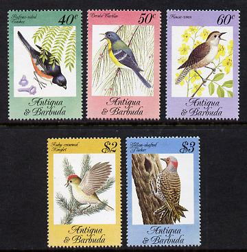 Antigua 1984 Songbirds set of 5 unmounted mint, SG 869-73