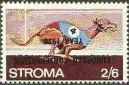 Stroma 1970 Dogs 2s6d (Greyhound) perf single with 'European Conservation Year 1970' opt inverted unmounted mint*, stamps on animals, stamps on dogs, stamps on greyhound