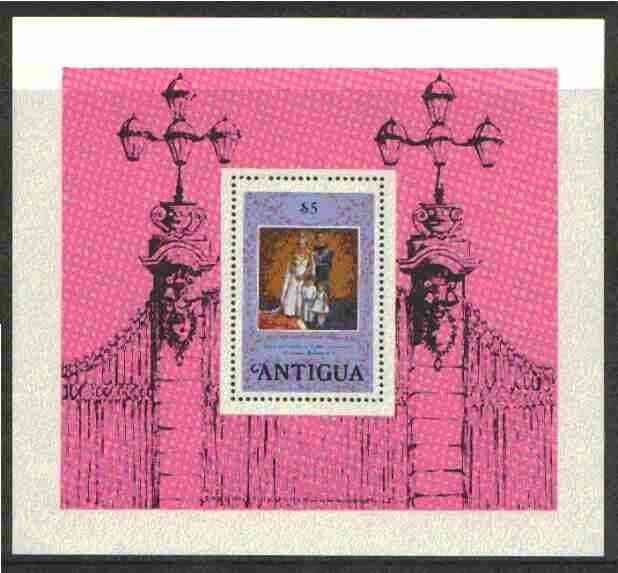 Antigua 1978 Coronation 25th Anniversary perf m/sheet unmounted mint, SG MS 586