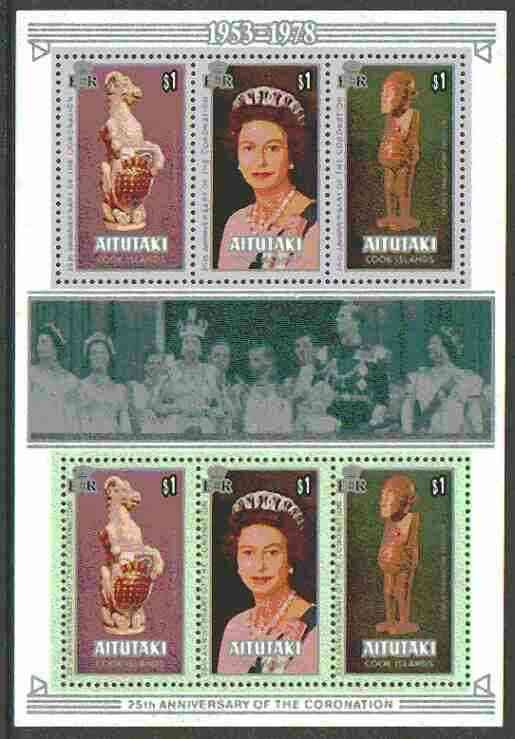 Cook Islands - Aitutaki 1978 Coronation 25th Anniversary m/sheet unmounted mint, SG MS 260