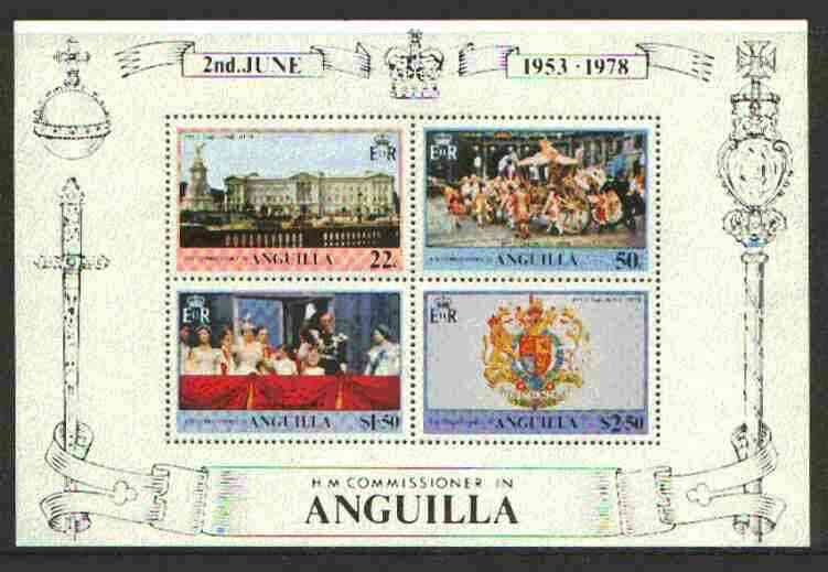Anguilla 1978 Coronation 25th Anniversary m/sheet, SG MS 324 unmounted mint
