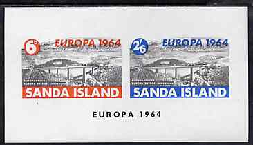 Sanda Island 1964 Europa imperf m/sheet (Europa Bridge) unmounted mint