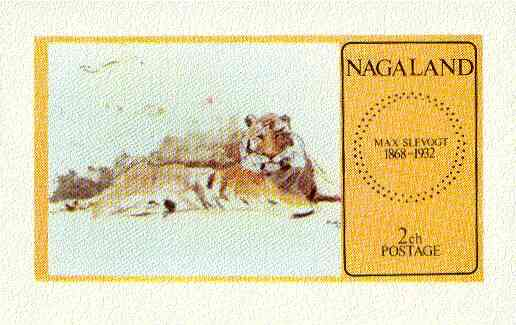 Nagaland 1973 Paintings of Animals (Tiger) imperf souvenir sheet unmounted mint