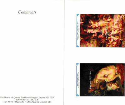 Bhutan 1991 Death Anniversary of Peter Paul Rubens - two imperf m/sheets (Venus Shivering & Feast of Venus) mounted in Folder entitled