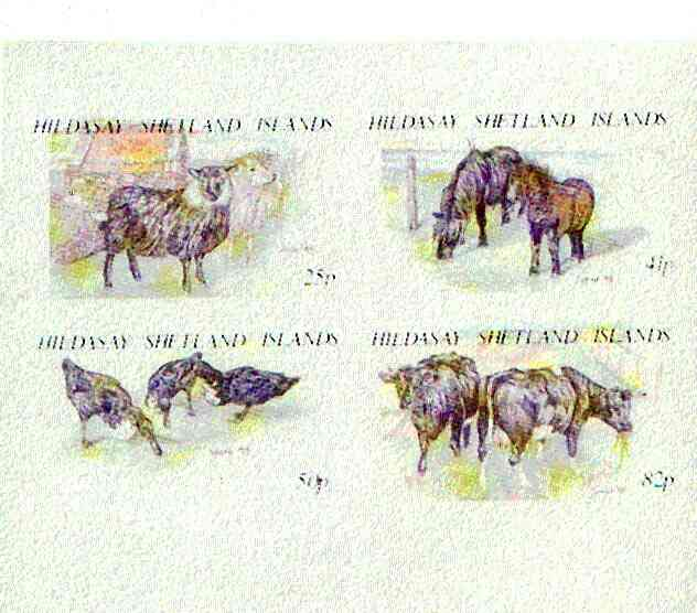 Shetland Islands 1995 Animals imperf set of 4 (face value \A31.98) unmounted mint