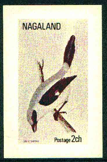 Nagaland 1972 Grey Shrike imperf souvenir sheet (2ch value) unmounted mint