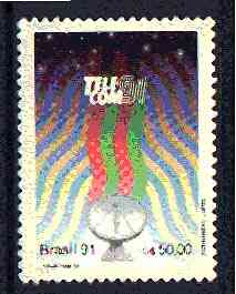 Brazil 1991 'Telecom 91' Exhibition, unmounted mint SG 2497*