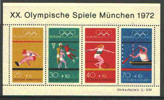 Germany - West 1972 Munich Olympic Games (7th Issue) m/sheet unmounted mint, SG MS 1633