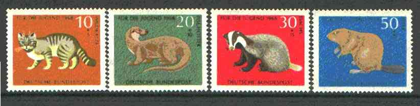Germany - West 1968 Child Welfare (Animals) set of 4 unmounted mint, SG 1454-57*