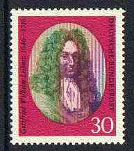 Germany - West 1966 Death Anniversary of Gottfried Leibniz (scientist & Mathematician) unmounted mint SG 1423*