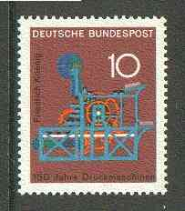 Germany - West 1968 Koenig's Printing Machine from Anniversaries set unmounted mint, SG 1451*