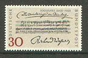 Germany - West 1968 Centenary of Richard Wagner's Opera unmounted mint, SG 1468