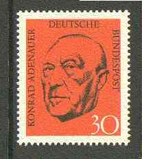 Germany - West 1968 Adenauer Commemoration (2nd issue) unmounted mint SG 1469*
