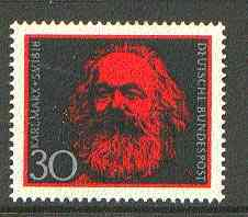 Germany - West 1968 150th Birth Anniversary of Karl Marx unmounted mint SG 1462*