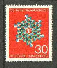 Germany - West 1968 Centenary of German Trade Unions unmounted mint SG 1472*