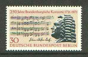 Germany - West Berlin 1971 Bach's Brandenburg Concerto unmounted mint SG B393