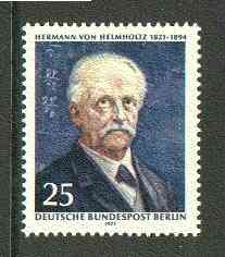 Germany - West Berlin 1971 Birth Anniversary of Hermann von Helmholz (scientist) unmounted mint SG B394, stamps on personalities, stamps on science, stamps on maths