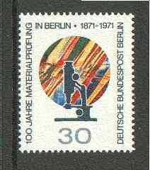 Germany - West Berlin 1971 Material Testing Laboratory unmounted mint SG B412*