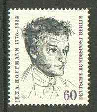 Germany - West Berlin 1972 Death Anniversary of E T A Hoffman (poet) unmounted mint SG B421*