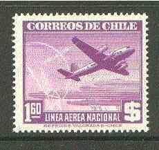 Chile 1941 Douglas DC-4 1p60 violet unmounted mint SG 305*