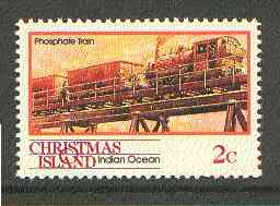 Christmas Island 1990 Phosphate Train 2c unmounted mint SG 288*
