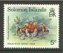 Solomon Islands 1993 Ghost Crab 5c unmounted mint SG 752*