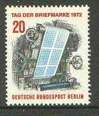 Germany - West Berlin 1972 Stamp Day (Printing-press) unmounted mint SG B423
