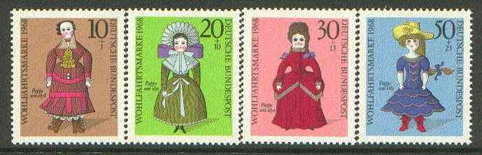 Germany - West 1968 Humanitarian Relief (Dolls) set of 4 unmounted mint SG 1473-76*