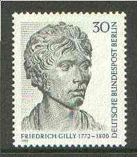 Germany - West Berlin 1972 Bicentenary of Friedrich Gilly (architect) unmounted mint SG B413