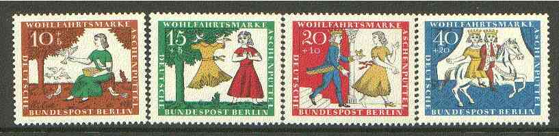 Germany - West Berlin 1965 Humanitarian Relief Funds (Cinderella) set of 4 unmounted mint SG B277-80