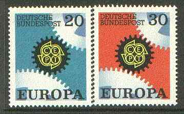 Germany - West 1967 Europa set of 2 unmounted mint SG 1438-39*