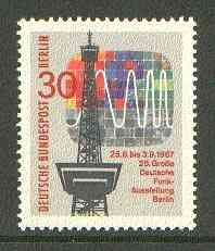 Germany - West Berlin 1967 Broadcasting Exhibition unmounted mint SG B303*