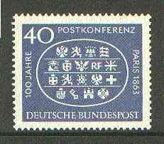 Germany - West 1963 Paris Postal Conference unmounted mint SG 1312*