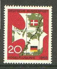 Germany - West 1963 Opening of Denmark-Germany Railway unmounted mint SG 1313*