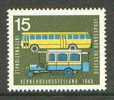 Germany - West 1965 Old & Modern Postal Buses 15pf from Transport Exhibition set unmounted mint SG 1391*