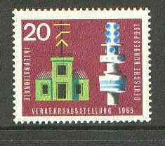 Germany - West 1965 Semaphore Station & Signal Tower 20pf from Transport Exhibition set unmounted mint SG 1392*