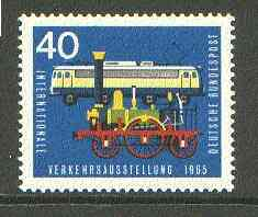 Germany - West 1965 Old & Modern Locomotives 40pf from Transport Exhibition set unmounted mint SG 1393*